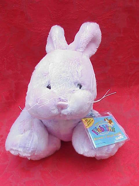 New Webkinz  Retired Sherbet   Sherbert  Lavender Easter Bunny Rabbit Webkinz Sealed Tag & Unused Code Code Easter