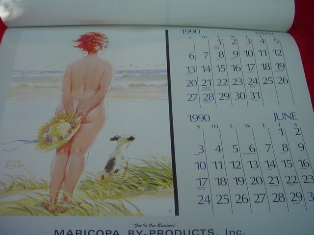 Duane Bryers  Hilda Advertising Nude Pin Up Calendar  Red Head Lady