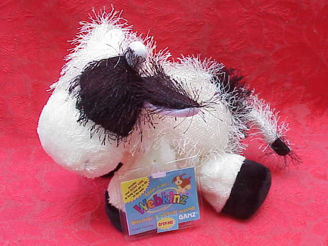 Webkinz Black & White Cow With  No Magic