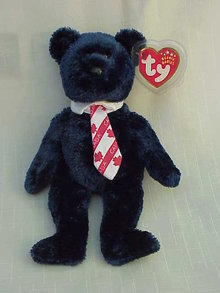 Ty Pops The Canadian / Canada Patriotic Beanie Baby Teddy Bear