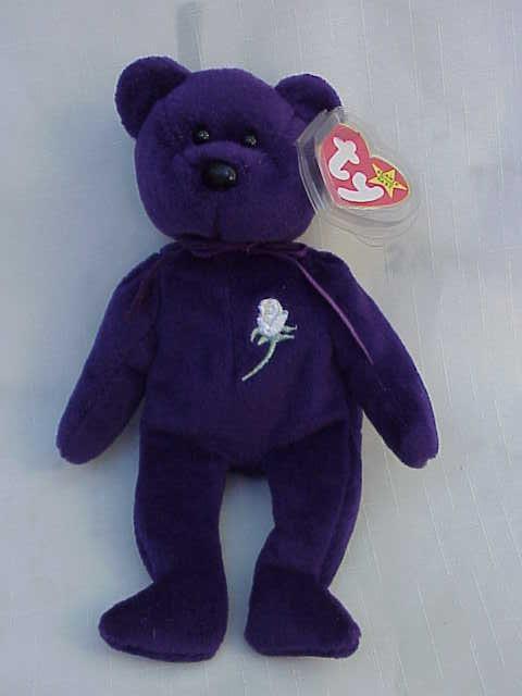 Ty Princess  Dianna Beanie Baby Teddy Bear