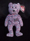 Ty USA Patriotic Beanie Baby Teddy Bear