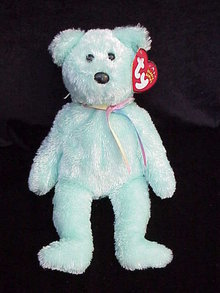 Ty Sherbert  Lime Green  Sherbet Beanie Baby Teddy Bear