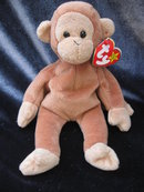 Ty Bongo  The Monkey With The Light Tail Retired  Beanie Baby