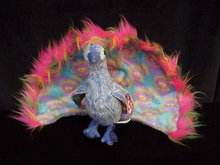 Ty FLASHY THE PEACOCK Beanie Baby Bird