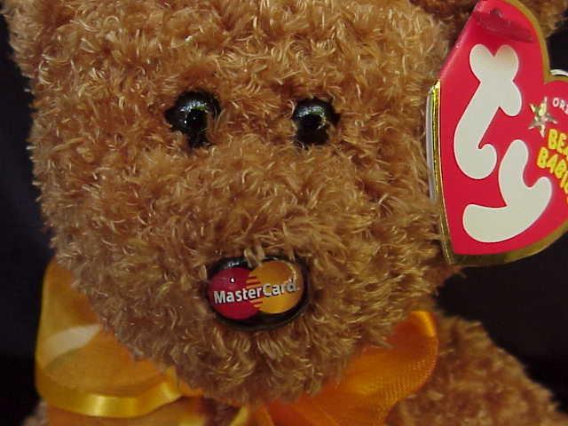 Ty Mastercard V Master Card V ( MC V ) Beanie Baby  Teddy Bear