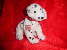 Ty RESCUE THE DALMATION DOG Beanie Baby Dalmatian Dog