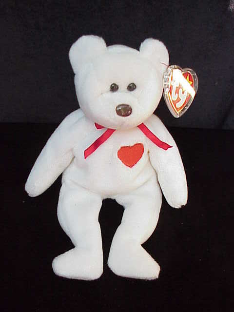 Retired Ty VALENTINO Beanie Baby Valentine's Day Teddy Bear