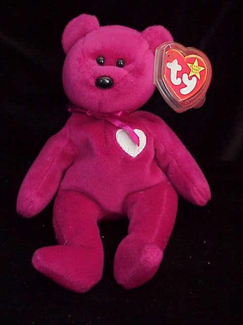 Ty VALENTINA Beanie Baby Valentine's Day Teddy Bear