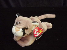 Ty CANYON THE COURGAR Beanie Baby CAT