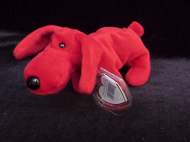 Ty Rover The Red Dog Beanie Baby