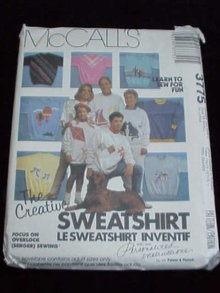 2 McCall's Sewing Patterns T-Shirt & Sweatshirts Adults