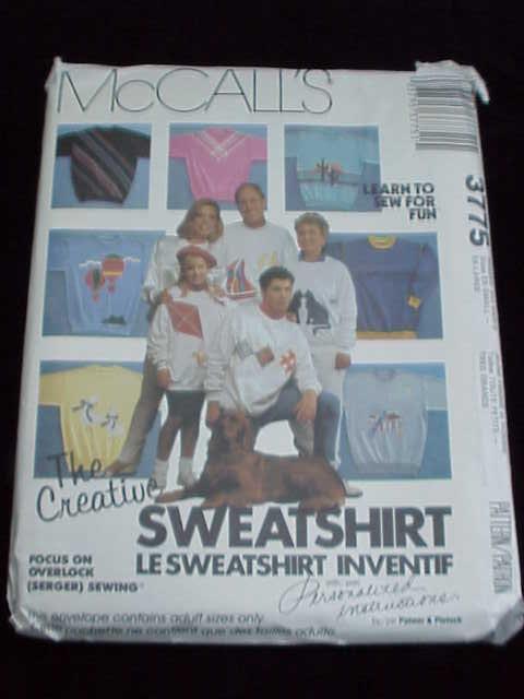 2 McCall's Sewing Patterns T-Shirt & Sweatshirts Adults