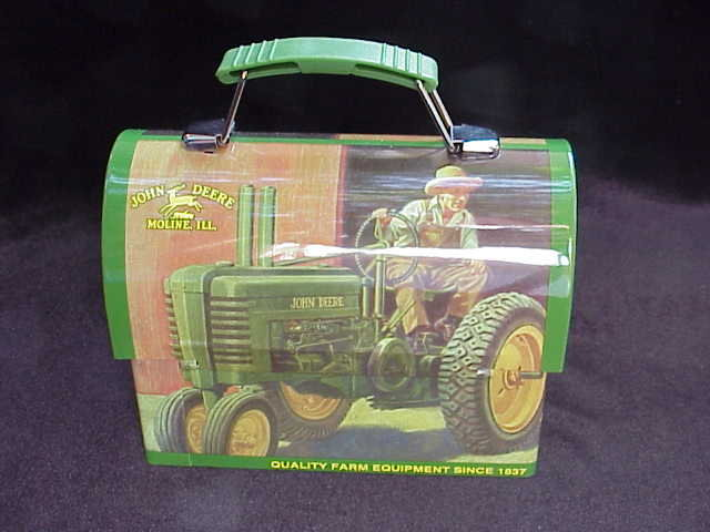 John Deere Domed Lunchbox  Lunch Box / Tote Tractor Scene