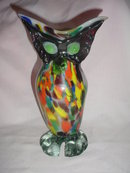 Creepy  Owl Figurine  Vase or Centerpiece Fall or Halloween  Owl