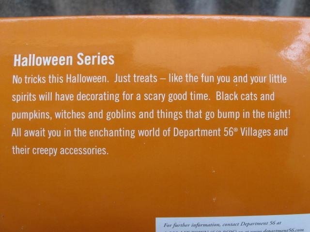 Dept. Department  56 Village HALLOWEEN ACCESSORY SET of 5 Werewolf, Black Cat 2 JOL Cauldron  Retired