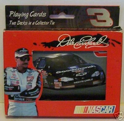 2 Decks Dale Earnhardt & # 3 Race Car Playing Cards