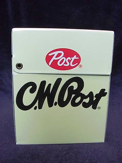 Vintage Advertising C.W. Post Metal Recipe Box
