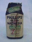Phillips Milk of Magnesia Cobalt Blue Bottle - New Old Stock