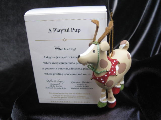 Hallmark 2006  A PLAYFUL PUP or Puppy Dog  Christmas Tree Ornament  Special Dog