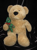 Ty BEARY MERRY PLUFFIE Bear with Plaid Teddy Bear - Retired   Plush