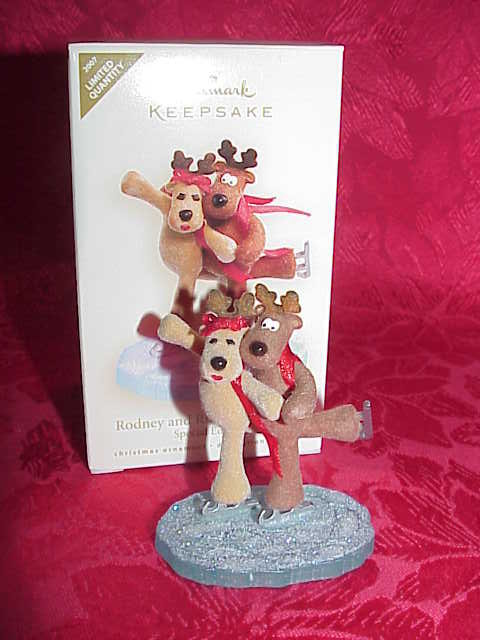 Hallmark 2007 RODNEY & RHONDA REINDEER Special Limited Christmas Tree Ornament