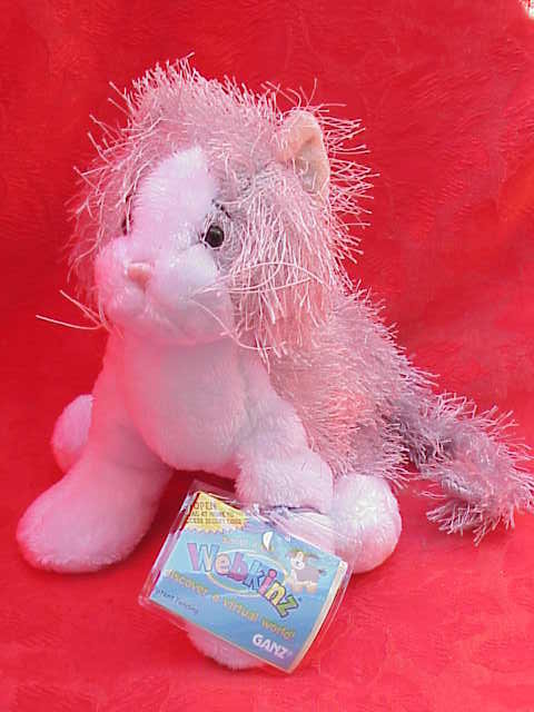 Grey Gray & White Webkinz  Retired Kitty Cat  Sealed Tag + Secret Code