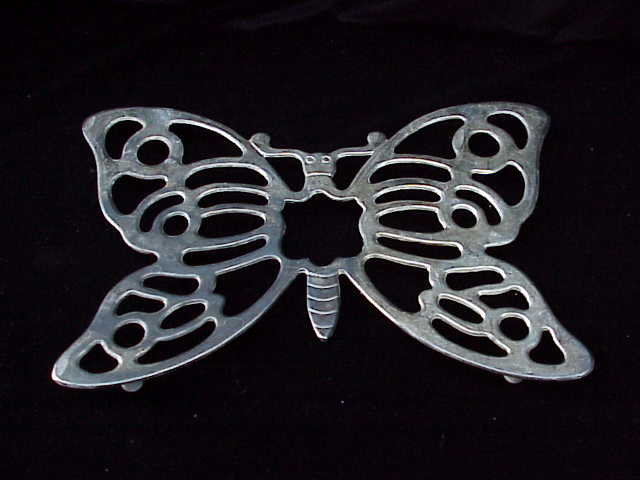Silverplated  ITALIAN  BUTTERFLY TRIVET or Hot Plate