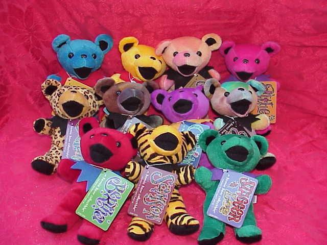 11 Liquid Blue Grateful Dead Beanie  Bears -  Complete Set of Series I  - Set of  11 Bears