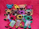 11 Liquid Blue Grateful Dead Beanie  Bears -  Complete Set of Series I  - Set of  11 Bears
