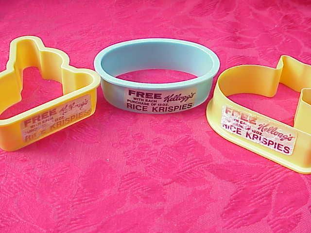 3 Vintage Rice Krispies Advertising Easter Cookie Cutters Kellogg's