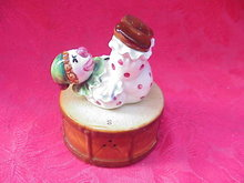 Vintage Stacker Clown & Drum Salt & Pepper Shakers