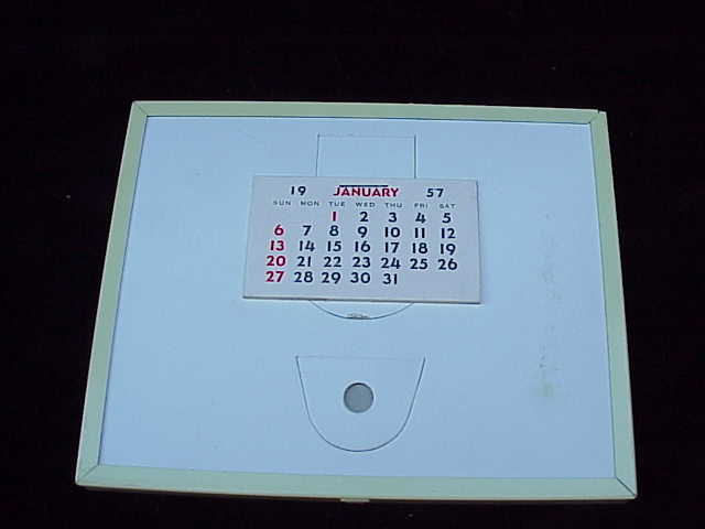 Vintage Salesman's Sample 1957 Advertising Thermometer Print Calendar Grocery Store