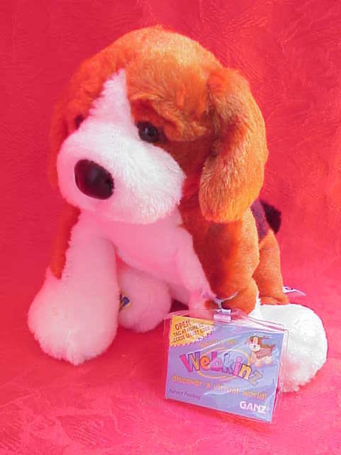New Webkinz  Retired Beagle Dog With Sealed Tag & Unused Secret Code