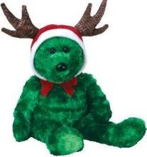 Ty 2002 Holiday Teddy  Bear Beanie Buddy New Old Stock