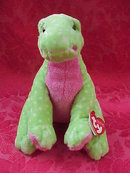 Ty Pluffies STOMPS THE DINOSAUR Pluffie Plush