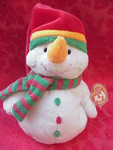 Ty Pluffies  MELTON THE SNOWMAN  Pluffie Plush