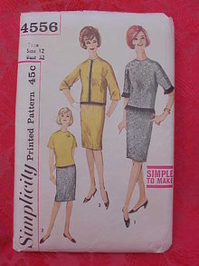 Simplicity 4556 Teen  Skirt &  Overblouse 1960's Sewing Pattern   Size 12