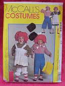 McCall's 9494 Child's Raggedy Ann & Andy Halloween Costume Sewing Pattern  Size 6 - 8