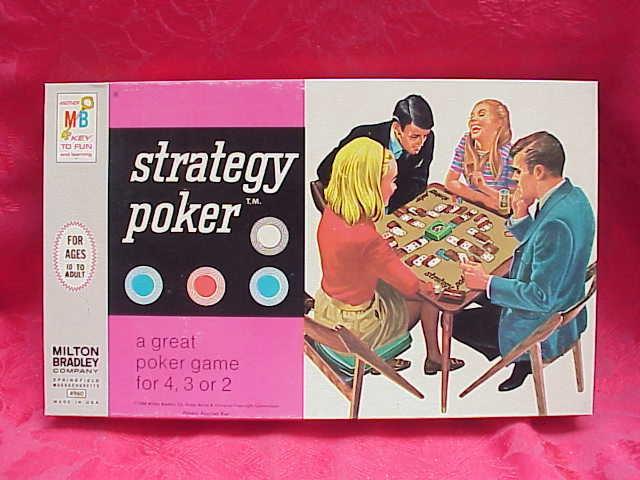 1968 Milton Bradley Strategy Poker Game In Original Box