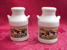 Cows Milk Can Salt & Pepper Shakers