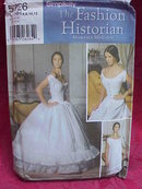 Simplicity 55726 Misses'  Chemise corset Petticoat  Civil War Halloween Costume Sewing Pattern Size HH 6 8 10 12