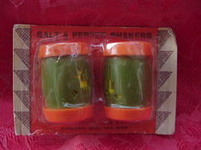 Vintage  Indian & Deer Salt & Pepper Shakers  In Original Package    Saint Labre