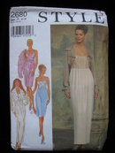Style 2680 Misses'  Elegant Spaghetti Straps Empire Dress & Bolero Jacket  Sewing Pattern Size 8, 10, 12, 14, 16, 18
