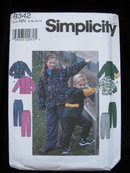 New Simplicity Child's Girls' & Boys' Jacket & Pants Sewing Pattern Size NN 8, 10, 12,14