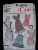 Simplicity Crafts 9433 Misses' Aprons   Sewing Pattern