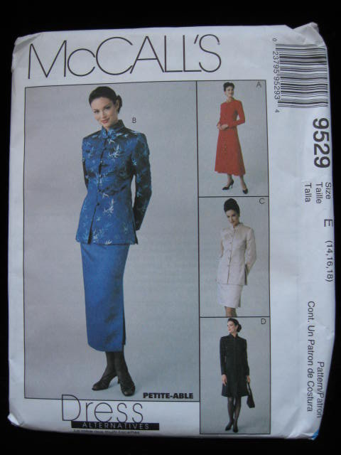 McCall's  Japanese Style Lined Dress , Jacket & Skirt  Sewing Pattern Size E 14 16 18