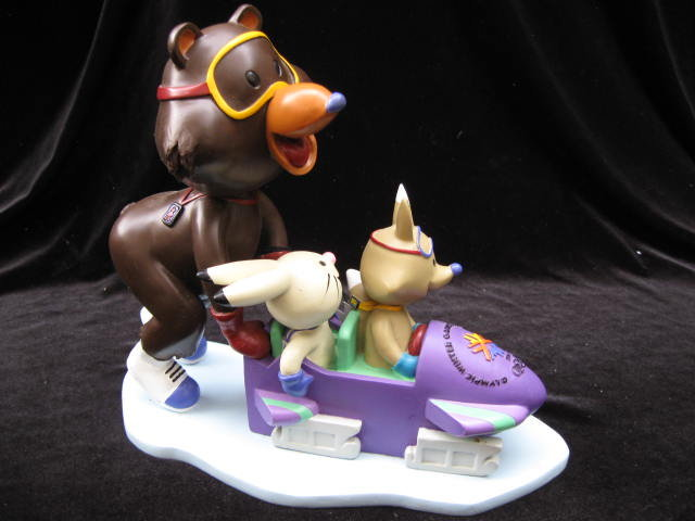 Coal, Copper & Powder  Bobsled  Team  Salt Lake City XIX Olympics Mascot Bobble Head   Figurine