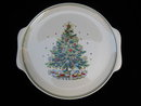 Vintage Salem CHRISTMAS EVE Porcelain  Plate Platter  With Tree &  Train Plate by Victor Schreckengost