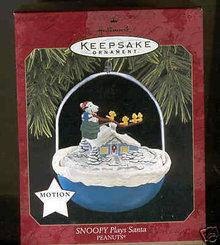 Hallmark 1997 Snoopy Plays Santa  Magic Movement  Christmas Tree Ornament